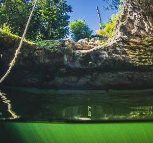 Cenote Calavera Eingang