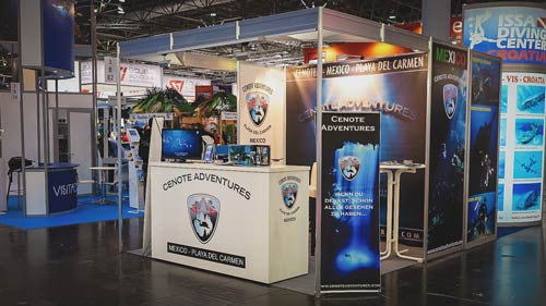 Messestand Boot Cenote Adventures
